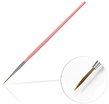 Pinceau nail art, 10mm, rose - Silcare Brush 02