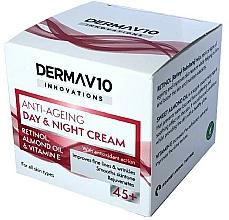 Parfums et Produits cosmétiques Crème au rétinol pour visage - Derma V10 Innovations Anti Ageing Day & Night Cream 45+