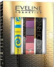 Parfums et Produits cosmétiques Set (mascara/10ml + palette de fards à paupières/9.6g) - Eveline Cosmetics Modern Glam Push Up