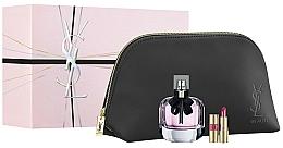 Parfums et Produits cosmétiques Yves Saint Laurent Mon Paris - Coffret cadeau (eau de parfum/90ml + rouge à lèvres/1.6g + trousse)