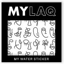 Parfums et Produits cosmétiques Autocollants pour ongles - MylaQ My Line Art sticker