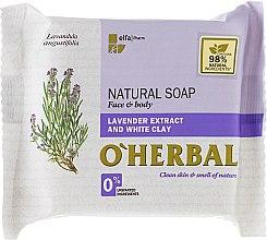 Parfums et Produits cosmétiques Savon naturel à l'extrait de lavande et argile blanche pour visage et corps - O'Herbal Natural Soap