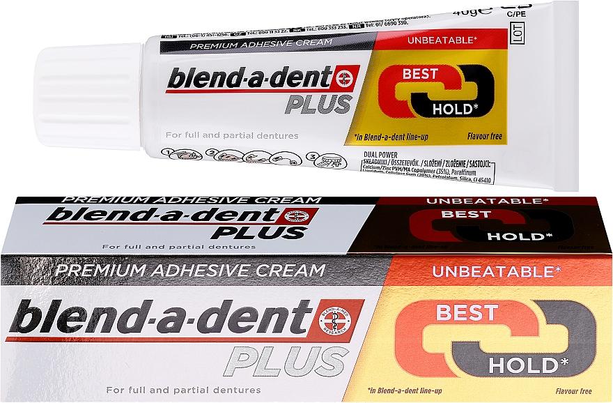 Crème adhésive pour prothèses dentaires - Blend-A-Dent Premium Adhesive Cream Plus Dual Power Light Mint
