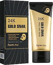 Parfums et Produits cosmétiques Masque peel-off à l'extrait d'escargot noir pour visage - FarmStay 24K Gold Snail Peel Off Pack