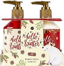 Parfums et Produits cosmétiques Coffret corps d'hiver pomme cuite - Accentra Hello Winter Baked Apple Bath Set (gel douche/250ml + lotion/250ml)