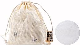 Parfums et Produits cosmétiques Disques démaquillants réutilisables, dans pochette - Nothing More Originals Cotons Bambou + Filet