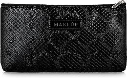 Parfums et Produits cosmétiques Trousse de toilette plate, noire, serpent - Makeup
