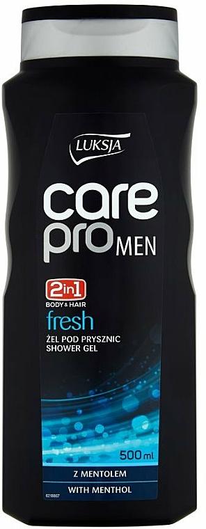 Gel douche au menthol pour corps et cheveux - Luksja Care Pro Men Fresh