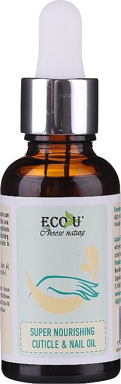 Huile nourrissante pour ongles et cuticules - Eco U Super Nourishing Cuticle & Nail Oil