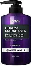 "Parfums et Produits cosmétiques Après-shampooing hydratant intense ""Ambre et vanille"" - Kundal Honey & Macadamia Amber Vanilla Treatment"