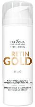 Parfums et Produits cosmétiques Crème lissante à l'Or colloïdal pour visage - Farmona Professional Retin Gold Smoothing & Illuminating Anti-Ageing Cream