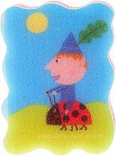 Parfums et Produits cosmétiques Éponge de bain pour enfants Le petit royaume de Ben et Holly, Ben sur une coccinelle - Suavipiel Ben & Holly