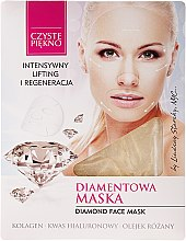 Parfums et Produits cosmétiques Masque au collagène et extrait de pépins de raisin pour visage - Czyste Piekno Diamond Face Mask