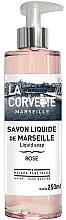 Parfums et Produits cosmétiques Savon liquide de Marseille, Rose - La Corvette Rose Liquid Soap