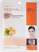 Parfums et Produits cosmétiques Masque en tissu au collagène et extrait d'abricot - Dermal Apricot Collagen Essence Mask