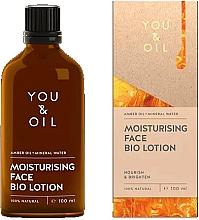 Parfums et Produits cosmétiques Lotion bio-active à l'huile d'ambre pour visage - You & Oil Moisturising Face Bio Lotion Amber Oil+Mineral Water