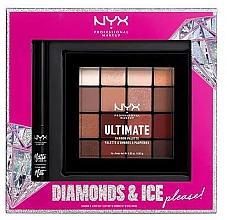 Parfums et Produits cosmétiques Coffret cadeau - NYX Professional Makeup Diamonds & Ice Please Shadow & Liner Set (sh/palette/16x1.18g+liner/2ml)