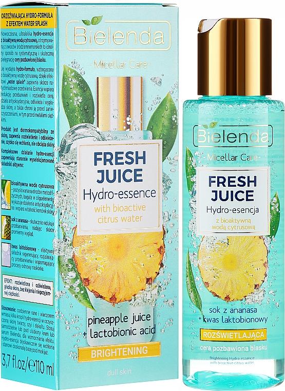 Bielenda Fresh Juice Brightening Hydro Essence Pineapple - Hydro-essence éclaircissante au jus d'ananas pour visage