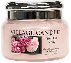 Parfums et Produits cosmétiques Bougie parfumée en jarre - Village Candle Fresh Cut Peony Glass Jar