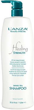 Shampooing au thé blanc pour cheveux longs ou faibles - Lanza Healing Strength White Tea Shampoo — Photo N4