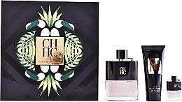 Parfums et Produits cosmétiques Carolina Herrera CH Men Prive - Coffret (eau de toilette/100ml + baume après-rasage/100ml + mini/7ml)