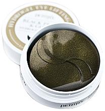 Parfums et Produits cosmétiques Patch hydrogel à la poudre de perles noires et or pour contour des yeux - Petitfee & Koelf Black Pearl&Gold Hydrogel Eye Patch