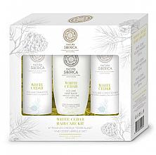 Parfums et Produits cosmétiques Natura Siberica White Cedar Hair Care Kit - Set (shampooing/250ml + après-shampooing/250ml + masque/200ml)