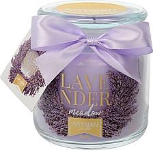 Parfums et Produits cosmétiques Bougie parfumée, Lavande, 10x11cm, 360g - Artman Lavender Meadow