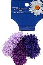 Parfums et Produits cosmétiques Élastiques à cheveux, 3 pcs, violets - Top Choice
