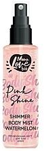 Parfums et Produits cosmétiques Brume scintillante pour corps, Pastèque - MonoLove Bio Shimmer Body Mist Watermelon Pink Shine