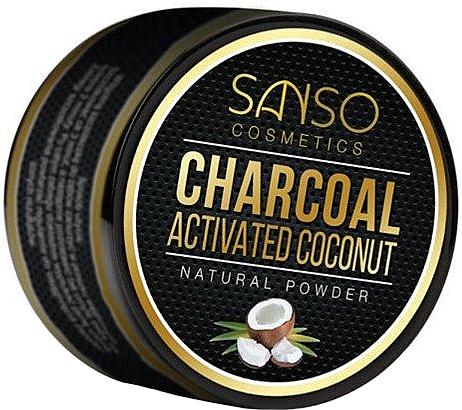 Poudre dentaire au charbon actif de noix de coco - Sanso Cosmetics Charcoal Activated Coconut Natural Powder