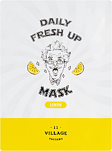 Parfums et Produits cosmétiques Masque tissu à l'extrait de citron pour visage - Village 11 Factory Daily Fresh Up Mask Lemon