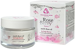 Parfums et Produits cosmétiques Crème de jour à l'huile de rose et extrait de baies de goji - Bulgarian Rose Rose Berry Nature Day Cream