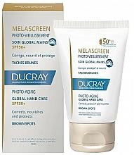 Parfums et Produits cosmétiques Soin anti-pigmentation à l'acide hyaluronique pour mains - Ducray Melascreen Global Hand Care SPF 50+