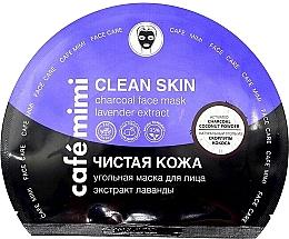 Parfums et Produits cosmétiques Masque au charbon actif et extrait de lavande pour visage - Cafe Mimi Clean Skin Charcoal Face Mask Lavender Extract