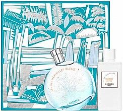 Parfums et Produits cosmétiques Hermes Eau des Merveilles Bleue - Coffret cadeau (eau de toilette/100ml + lait corporel/80ml)