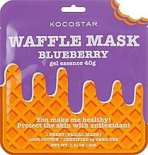 Parfums et Produits cosmétiques Masque tissu à l'extrait de myrtille pour visage - Kocostar Blueberry Waffle Mask