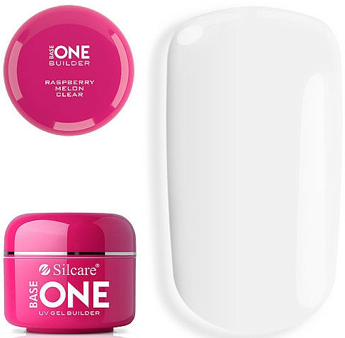 Gel pour ongles - Silcare Base One UV Gel Builder Clear Raspberry Melon