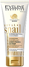 Parfums et Produits cosmétiques Masque crème régénérant au filtrat de bave d'escargot pour mains - Eveline Cosmetics Royal Snai