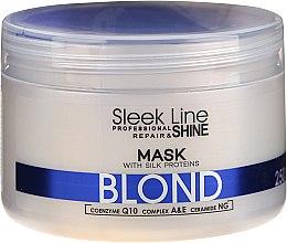 Parfums et Produits cosmétiques Masque déjaunissant aux protéines de soie - Stapiz Sleek Line Blond Hair Mask