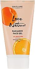 Parfums et Produits cosmétiques Gel tonifiant bio à l'abricot et orange pour visage - Oriflame Love Nature Radiance Face Gel