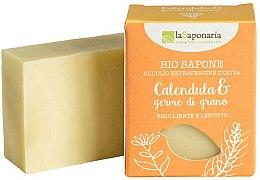 Parfums et Produits cosmétiques Savon naturel apaisant à l'huile de calendula et germe de blé - La Saponaria Calendula & Wheat Germ Soap