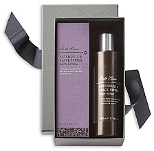 Parfums et Produits cosmétiques Bath House Patchouli & Black Pepper - Coffret cadeau (lotion corps/260ml+gel douche/260ml)