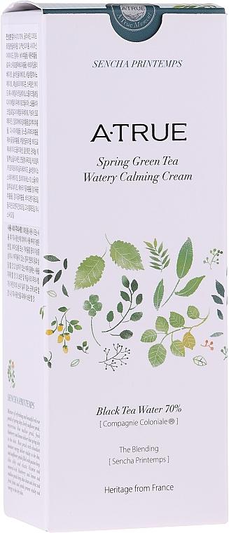 Crème à l'eau de thé noir pour visage pour peau grasse - A-True Spring Green Tea Watery Calming Cream — Photo N2