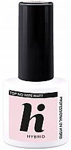 Parfums et Produits cosmétiques Top coat mat sans résidu gluant pour vernis semi-permanent - Hi Hybrid Top No Wipe Matt
