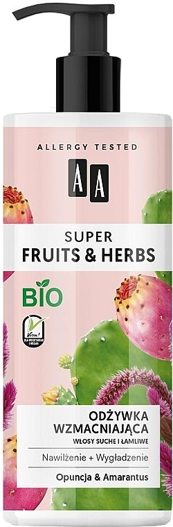 Après-shampooing bio à l'extrait de lavande, Opuntia et Amaranth - AA Super Fruits Herbs Conditioner