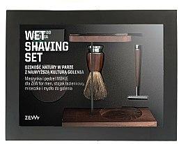 Parfums et Produits cosmétiques Zew For Men Wet Shaving Set - Coffret(savon/85ml + rasoir/1pc + blaireau de rasage/1pc + bol/1pc + support/1pc)