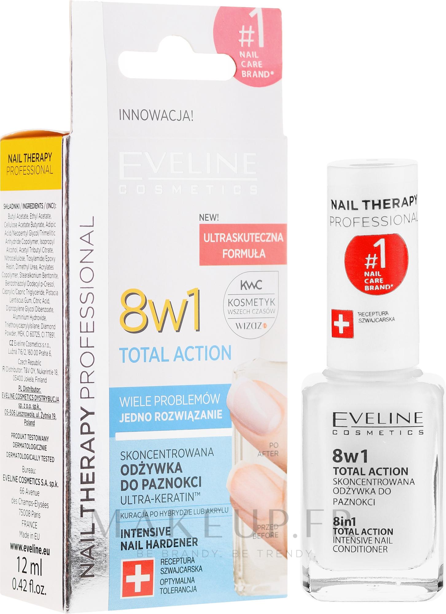 Traitement intensif pour la régénération des ongles - Eveline Cosmetics Nail Therapy Total Action 8 in 1 — Photo 12 ml