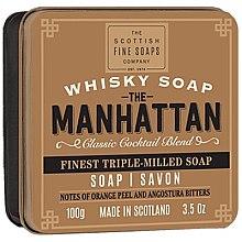 Parfums et Produits cosmétiques Savon à l'extrait de whisky en boîte métallique - Scottish Fine Soaps The Manhattan Soap In A Tin