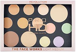 Parfums et Produits cosmétiques Palette contouring visage - Makeup Revolution Pro HD The Works Palette